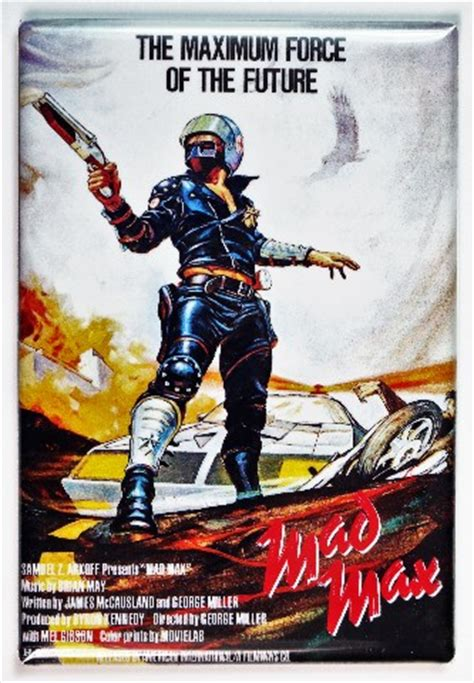 mad max  poster fridge magnet mel gibson sci fi theater
