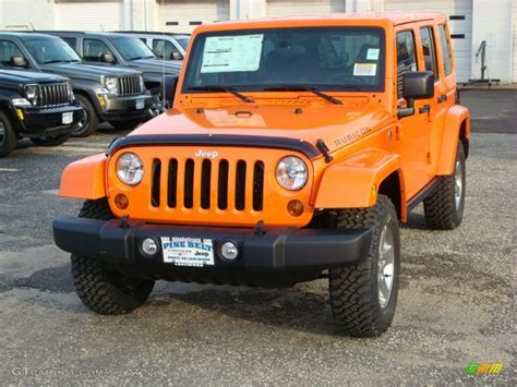 orange jeep rubicon 2012 crush orange jeep wrangler unlimited rubicon 4x4