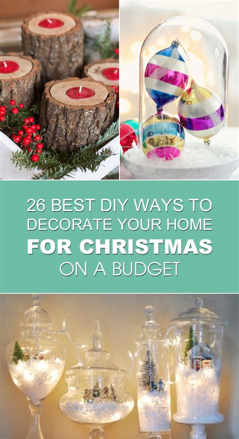 ways to decorate your home 26 best diy ways to decorate your home for christmas on a