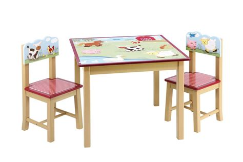 guidecraft farm friends table 2 chairs set free