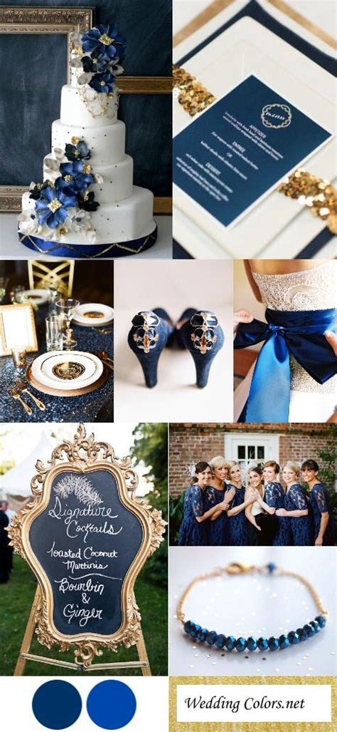 navy cobalt blue gold wedding color inspiration