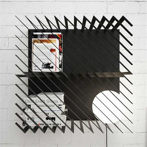 Modular Bookshelf with Diagonal Lines Pattern ? Hash