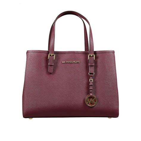 Tote Bag Whoopees 5019 michael michael kors borsa jet set travel md ew tote saffiano in vino lyst
