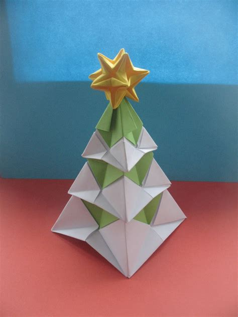 Origami Winter - interferente winter origami tree new