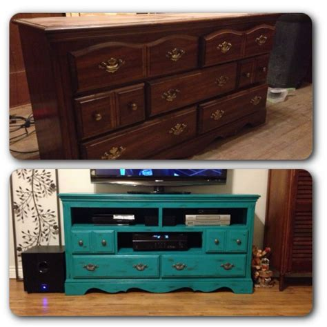 painted tv cabinet ideas dresser turned tv stand chalk paint diy crafts