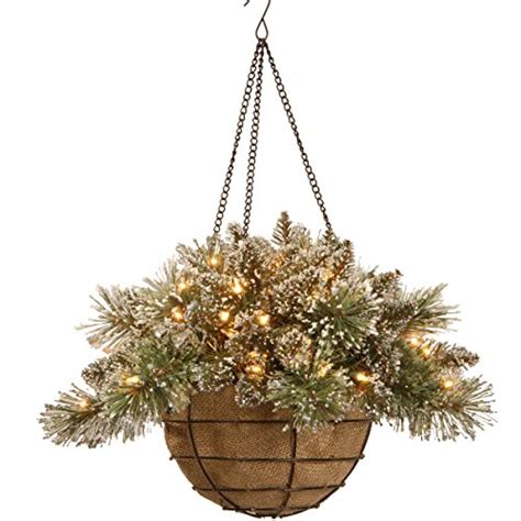hanging baskets with lights best pre lit hanging baskets with led lights