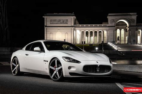maserati granturismo lowered on cv3 vossen wheels gtspirit