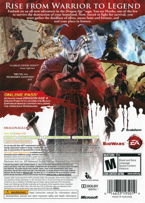 Dragon Age Ii For Xbox 360 Gamefaqs | dragon age ii box shot for xbox 360 gamefaqs