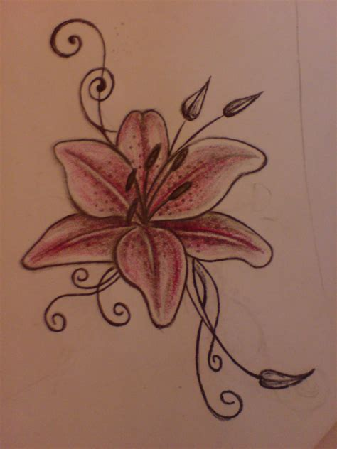 lily tattoo designs for feet by aim z on deviantart