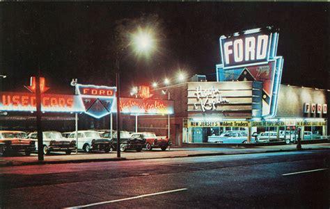 Vintage Photo of a 1950s NJ Ford Dealership