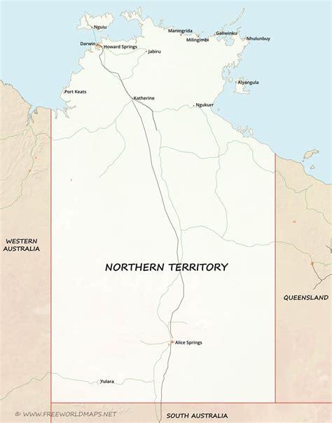 map northern australia northern territory maps