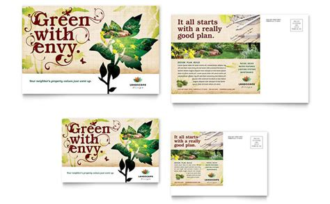 postcard advertising template landscape design postcard template design