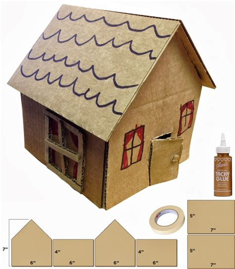 Cardboard House | little cardboard houses art projects for kids