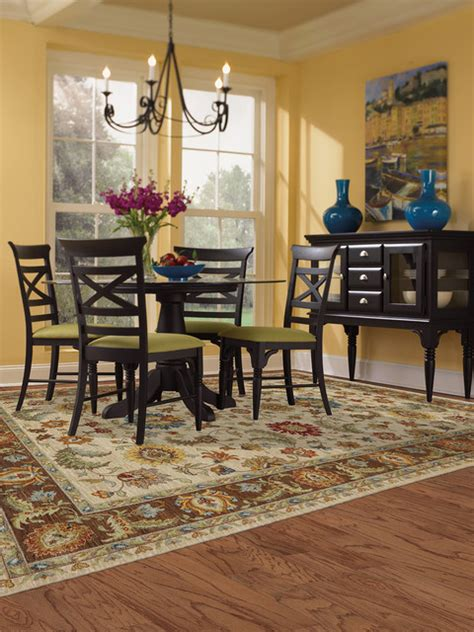 karastan area rug traditional dining room