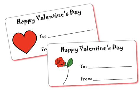 happy valentines day printable cards do2learn educational resources for special needs