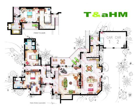 Two And A Half Men House Floor Plan Haus All About Charlie Harper