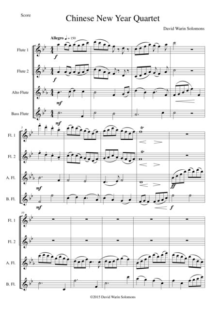 new year flute sheet new year celebration for flute quartet