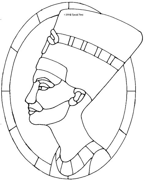stained glass pattern nefartit egypt learn the