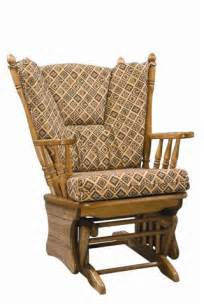 amish rocking chair cushions amish four post gliding rocker with ottoman