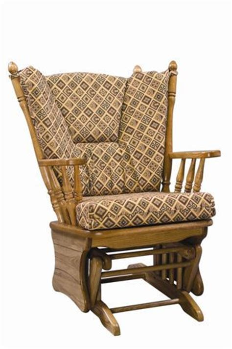 Amish Rocking Chair Cushions by Amish Four Post Gliding Rocker With Ottoman