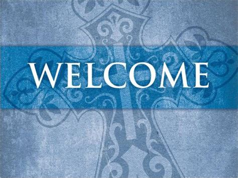 Church Powerpoint Template Cross Welcome Sermoncentral Com Welcome Templates For Ppt