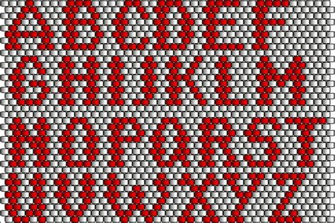 seed bead letter patterns 17 best images about peyote hafrler on loom