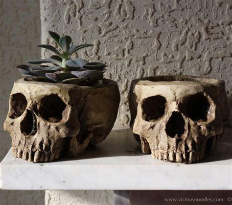 morbid home decor morbid decor human skull planter creepbay