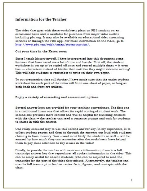 The Politics Of Reconstruction Worksheet Answers by Reconstruction Worksheets Worksheets Tutsstar Thousands