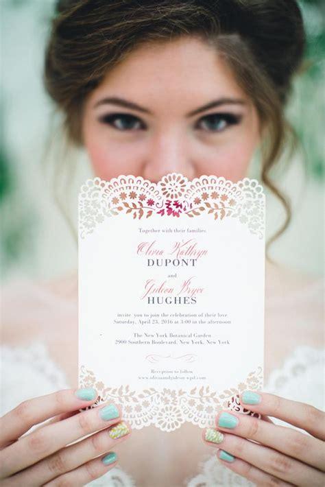 david s bridal lace wedding invitations lace lasercut wedding invitations deer pearl flowers