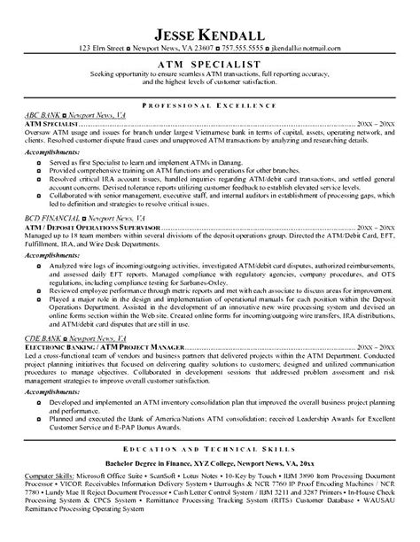 Teller Resume Exle by Teller Resume Exle Free Sles Exles Format Resume Curruculum Vitae Free