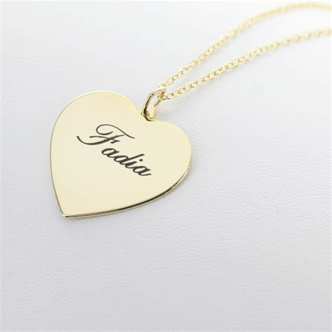 personalized engraved necklaces yellow gold silver personalized necklace