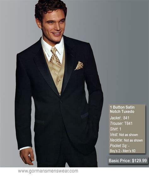black / champagne wedding tuxedo rentals   TUXEDO RENTALS