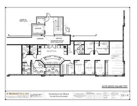 blueprint floor plan chiropractic clinic floor plans