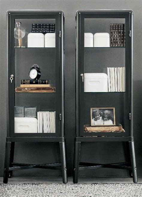 fabrikor ikea ikea fabrikor display cabinets in grey furniture industrial glasses and cabinets