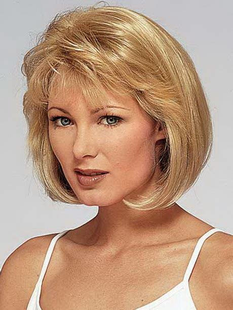 trendy bobs for 50 with thin hair layered haircuts for women over 50