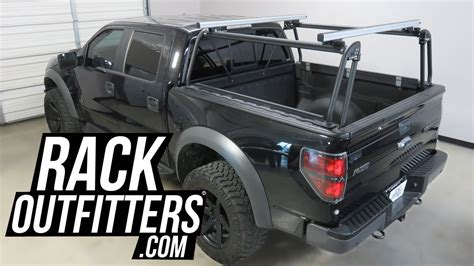 off road truck bed rack ford f150 raptor supercrew with leitner designs acs off road truck bed rack youtube