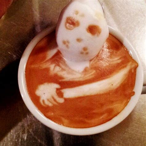 horror   cup deliciously terrifying coffee art