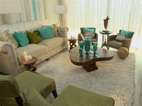 neutral living room with pops of color transitional living room with coastal color palette hgtv