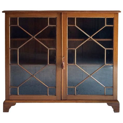bookcase glass fronted display cabinet astragal 20th