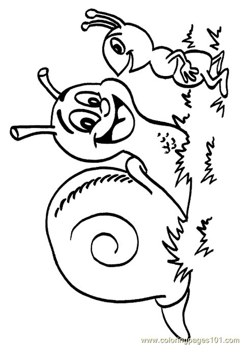 snail coloring page 05 coloring page free printable