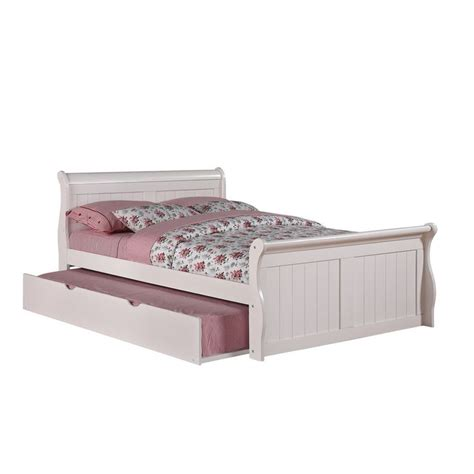 twin trundle bed white trundle sleigh bed