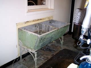 decorative utility sink old double laundry sink concrete stone