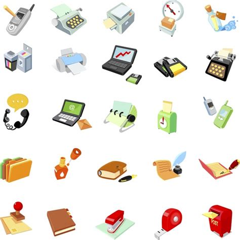 Office Supplies Icon Office Supplies Icon Vector Free Vector In Adobe