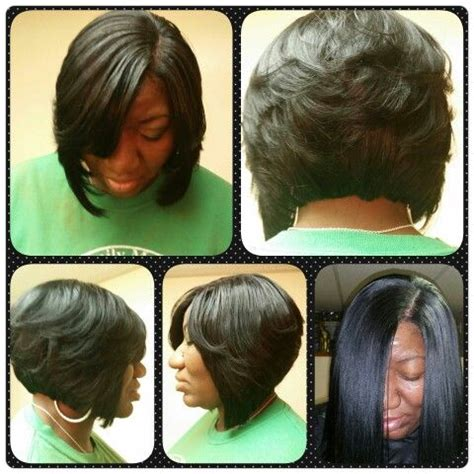 how to cut ur quick weave into layered stacked cyrls full stocking cap weave cut into a bob with layers