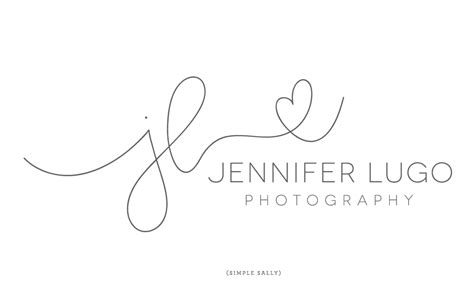 hand written initials logos for photographers jl is for
