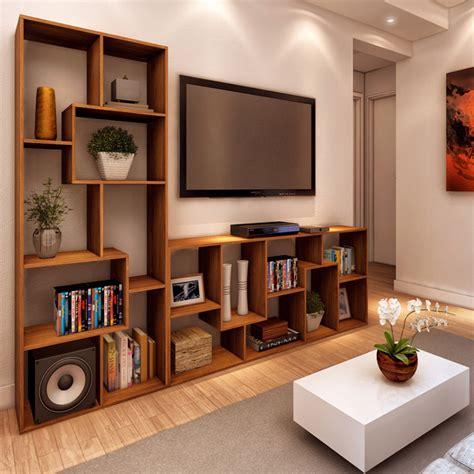 estante spaceo estante decorativa madeira 8 nichos nogal 169x70x30cm