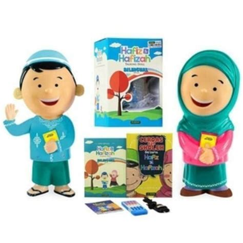 Boneka Hafiz Hafizah Talking Doll Bilingual V3 new hafiz talking doll versi bilingual jual quran murah