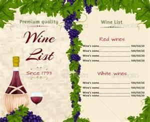 wine menu templates 20 wine menu templates free sle exle format