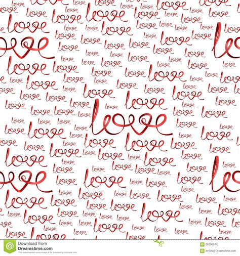 love pattern words seamless pattern of love words of ribbons stock vector
