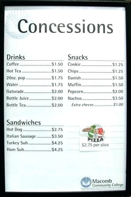 Concession Stand Flyer Template Brilliant Fresh Menu Word Free Concession Stand Flyer Template